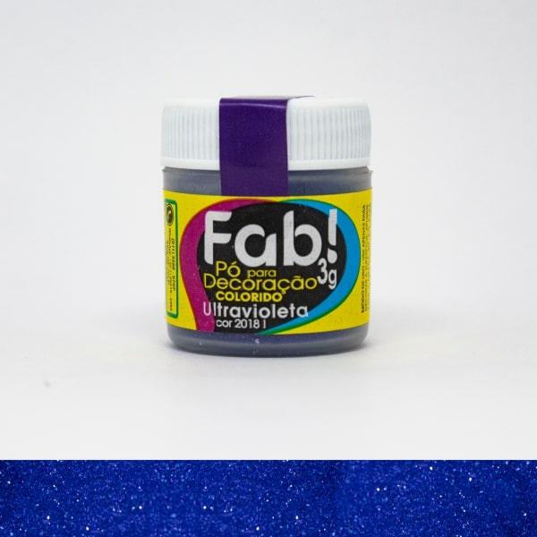 Pó p/ Decoração Ultravioleta 3g - Fab