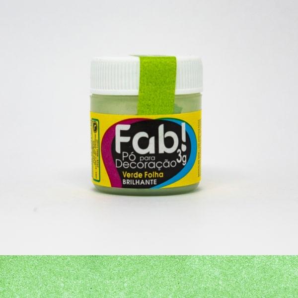 Pó p/ Decoração Verde Folha 3g - Fab