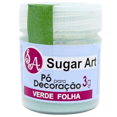 Pó p/ Decoração Verde Folha 3g - Sugar Art