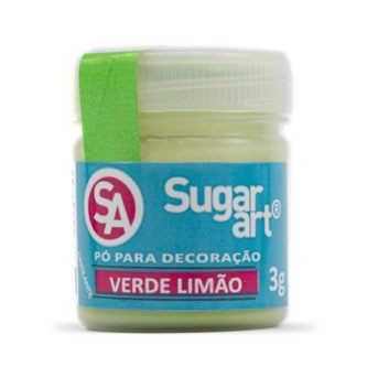 Pó p/ Decoração Verde Limão 3g - Sugar Art