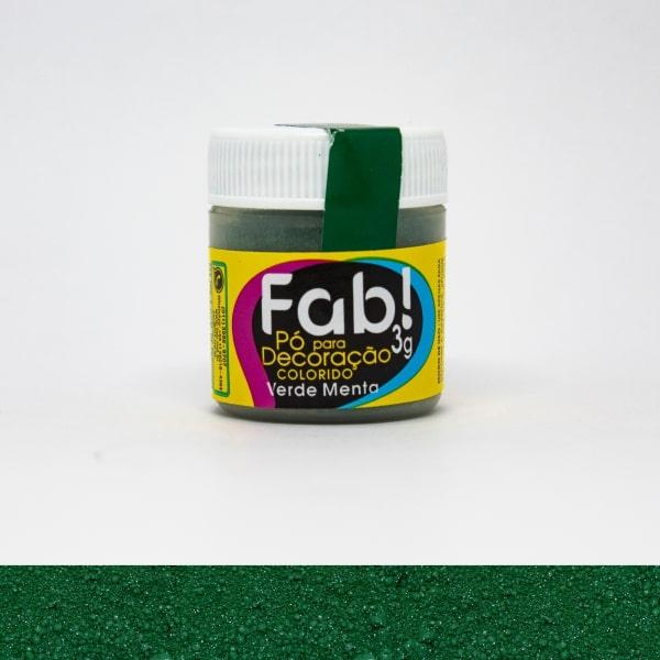 Pó p/ Decoração Verde Menta 3g - Fab
