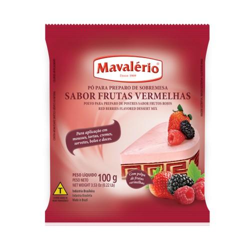 Pó p/ Preparo de Sobremesa Frutas Vermelhas 100gr - Mavalério