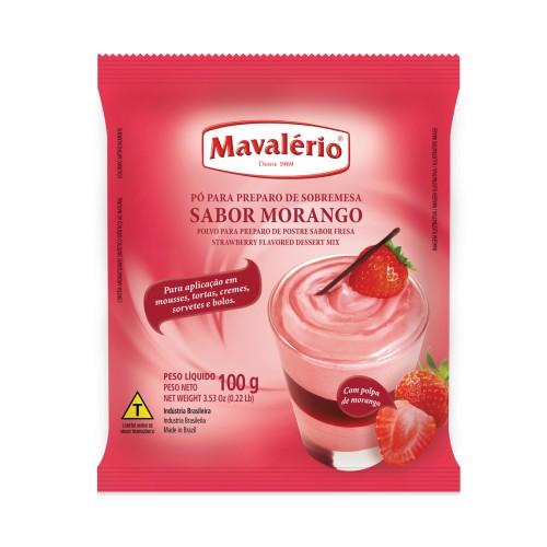 Pó p/ Preparo de Sobremesa Morango 100gr - Mavalério
