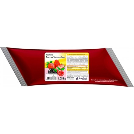 Recheio Forneável Frutas Vermelhas 1kg - Emulzint