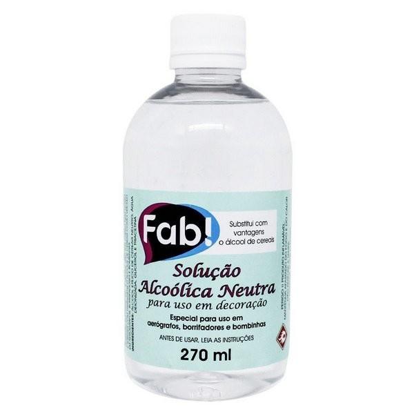 Solução Alcoolica Neutra 270ml - Fab