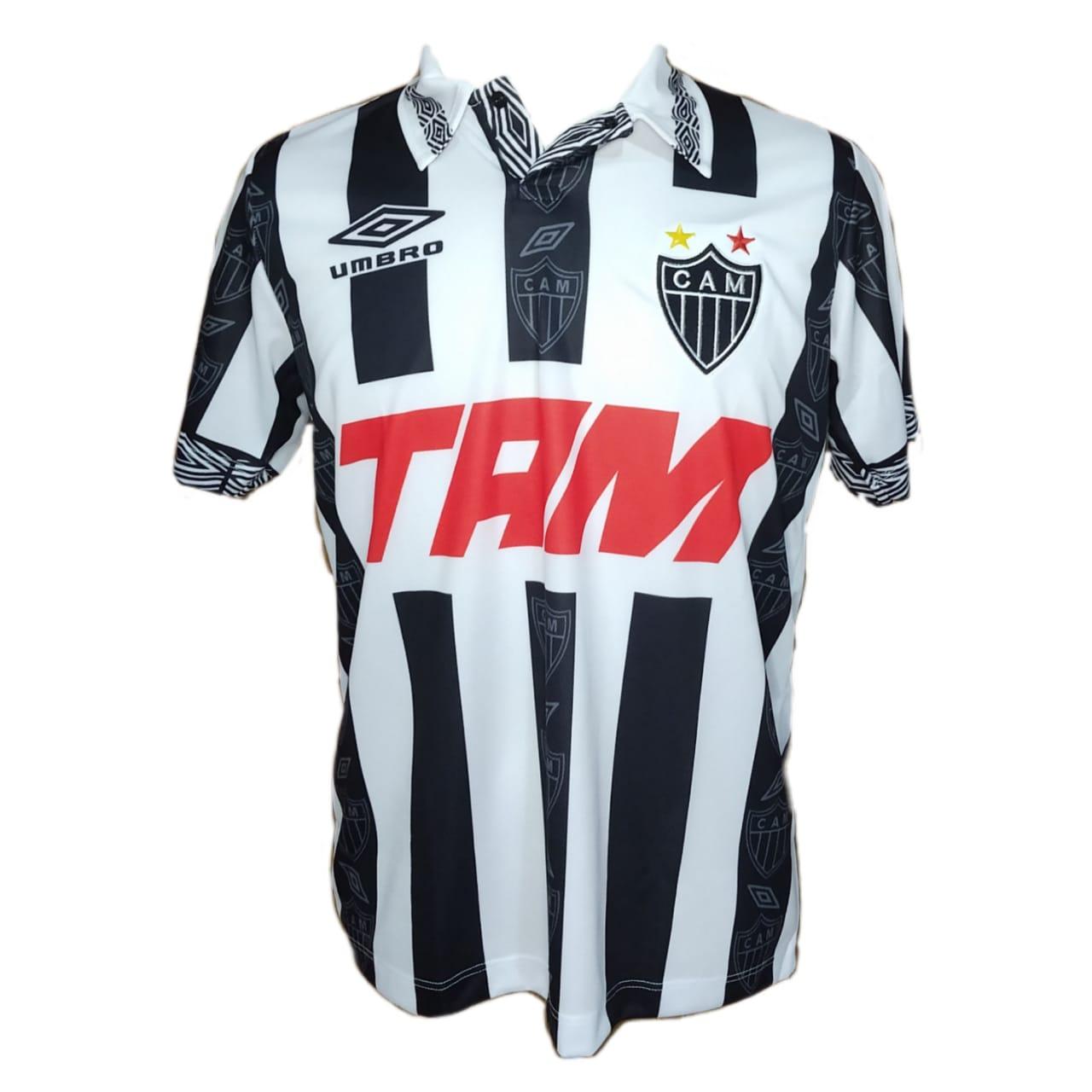 Camisa Atletico Mg Retro 1996 Blusa Galo Retro 1996 Fut Retro