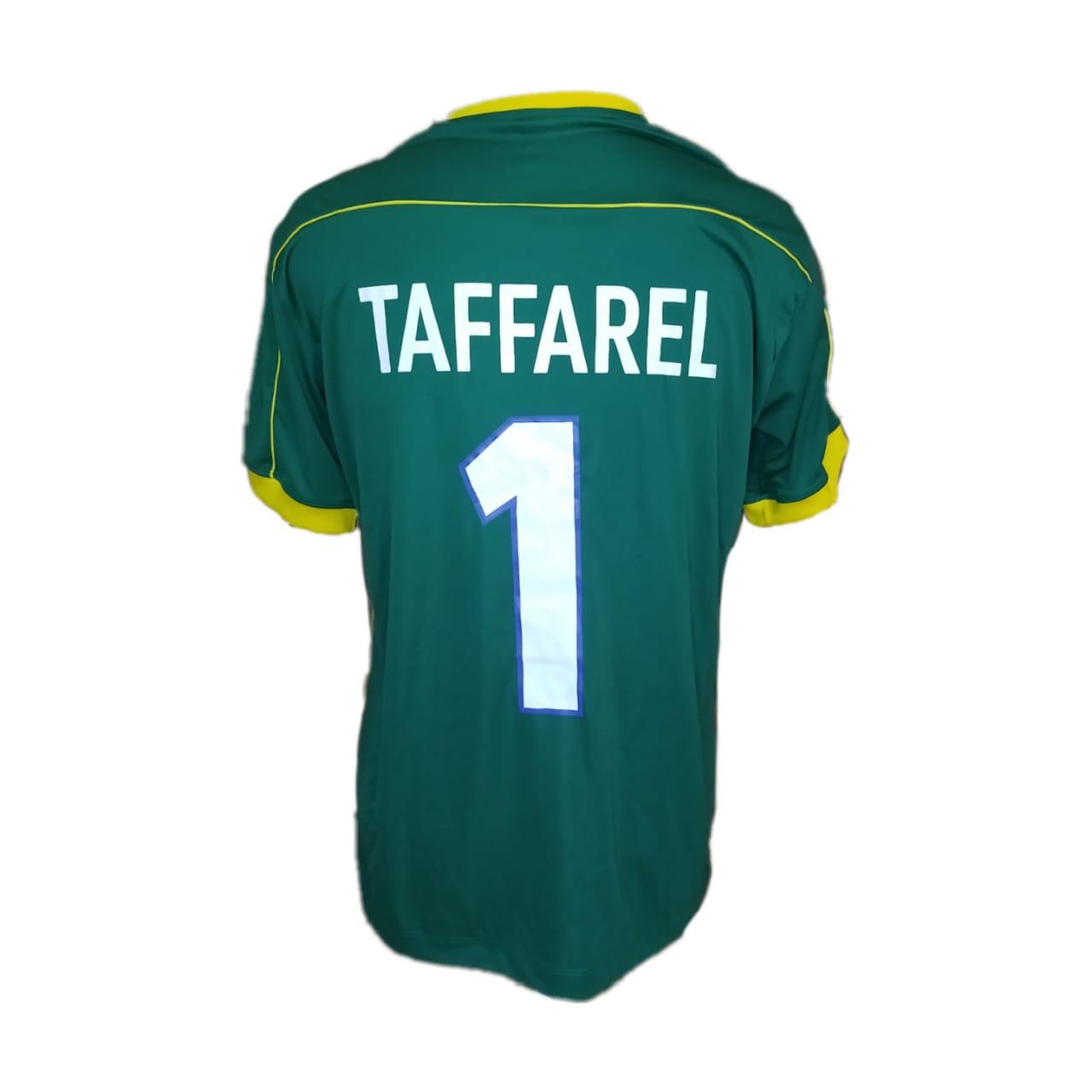 Camisa Retro Brasil Taffarel 1998 Verde Fut Retro