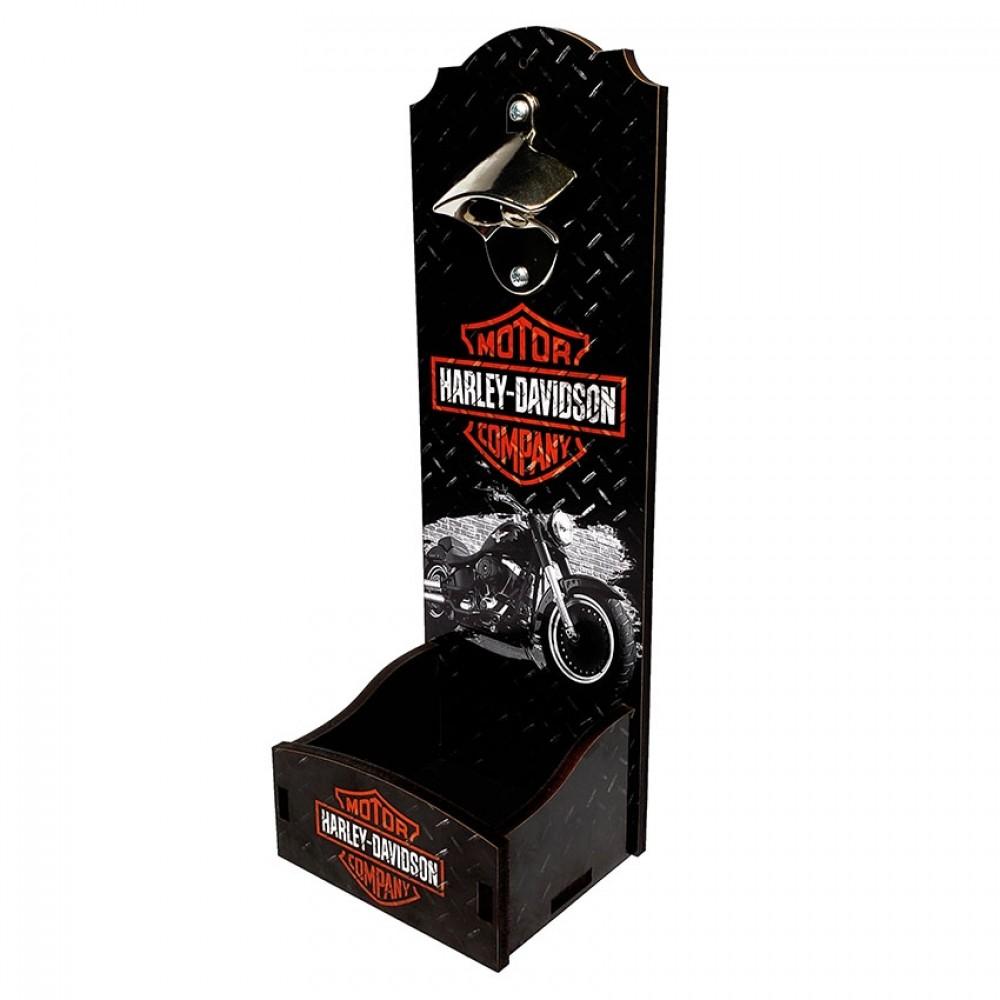 Abridor de Garrafa de Parede - Harley Davidson