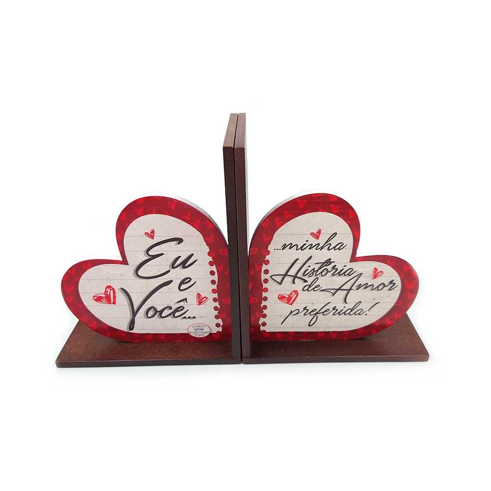 Aparador de Livros Coração - Eu e Você