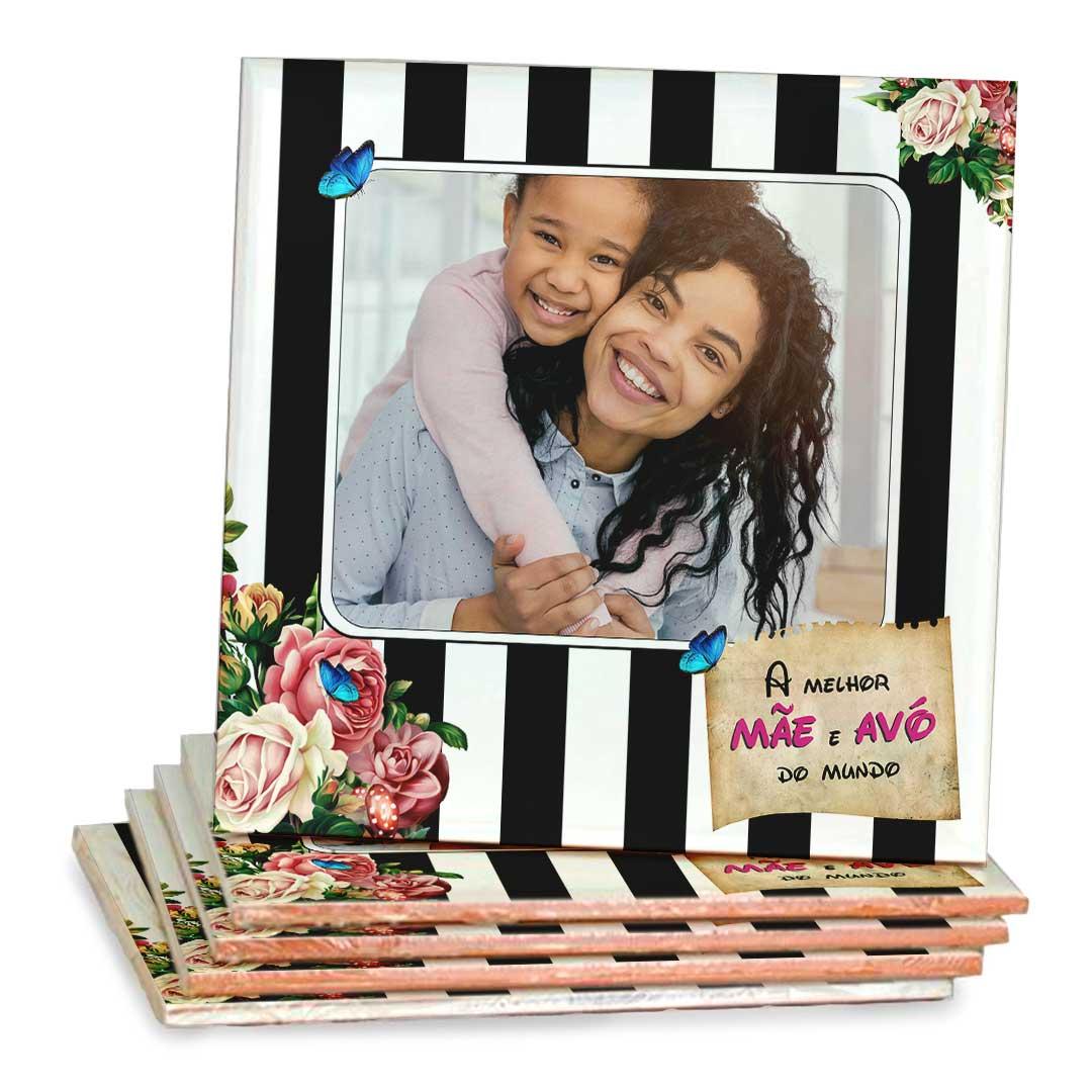 Azulejo Decorativo com Foto - A Melhor Mãe e Avó