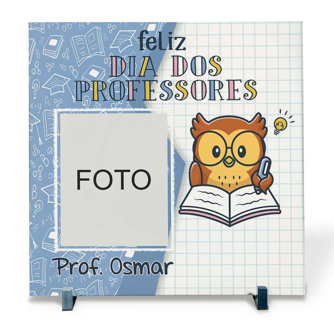 Azulejo Decorativo com Foto - Feliz Dia dos Professores