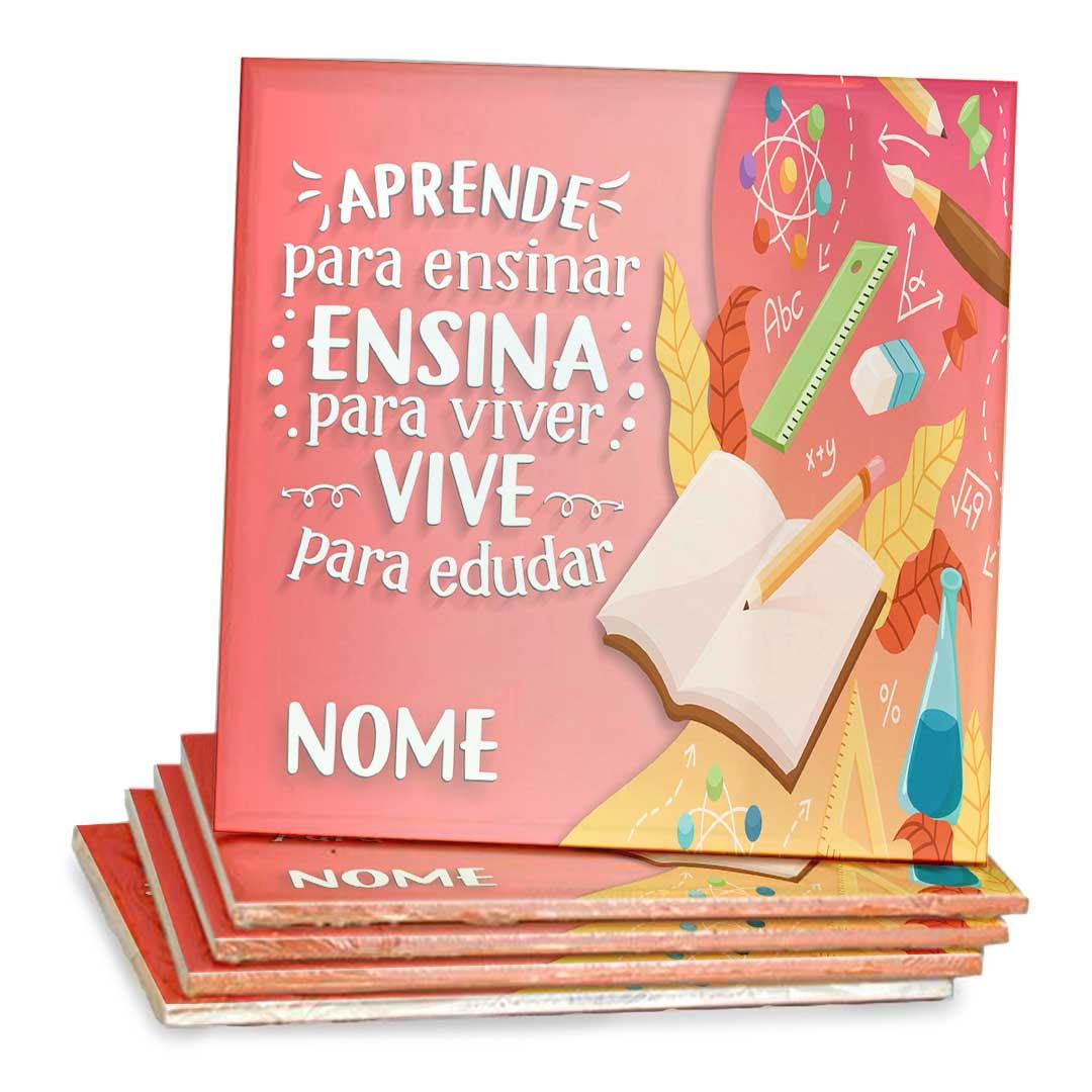 Azulejo Decorativo com Nome - Vive para Educar