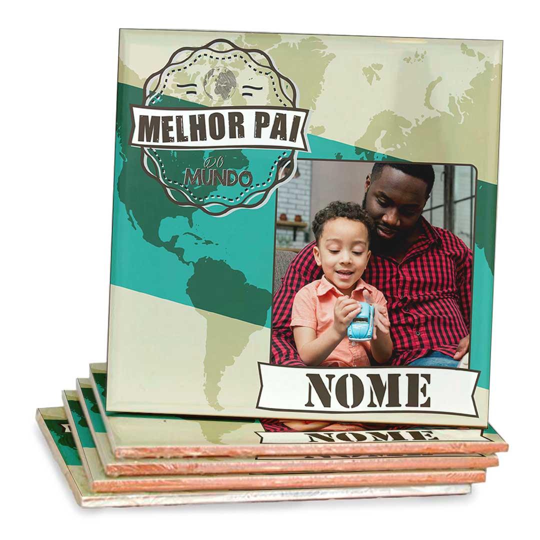 Azulejo Decorativo - Melhor Pai do Mundo