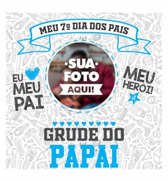 Azulejo Decorativo Personalizado com Foto Grude do Papai