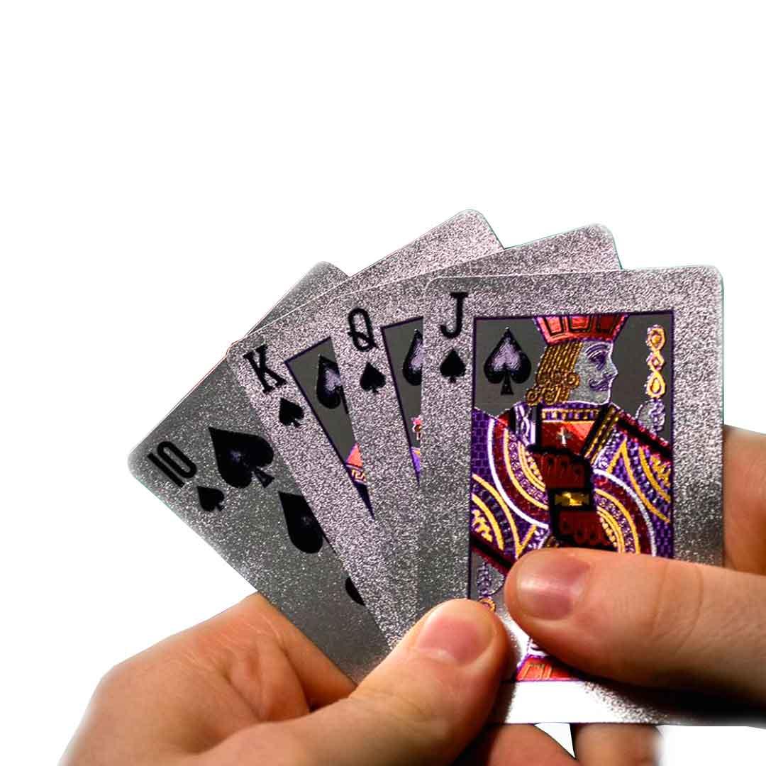 Baralho Prateado a Prova D'água - Dollar Poker