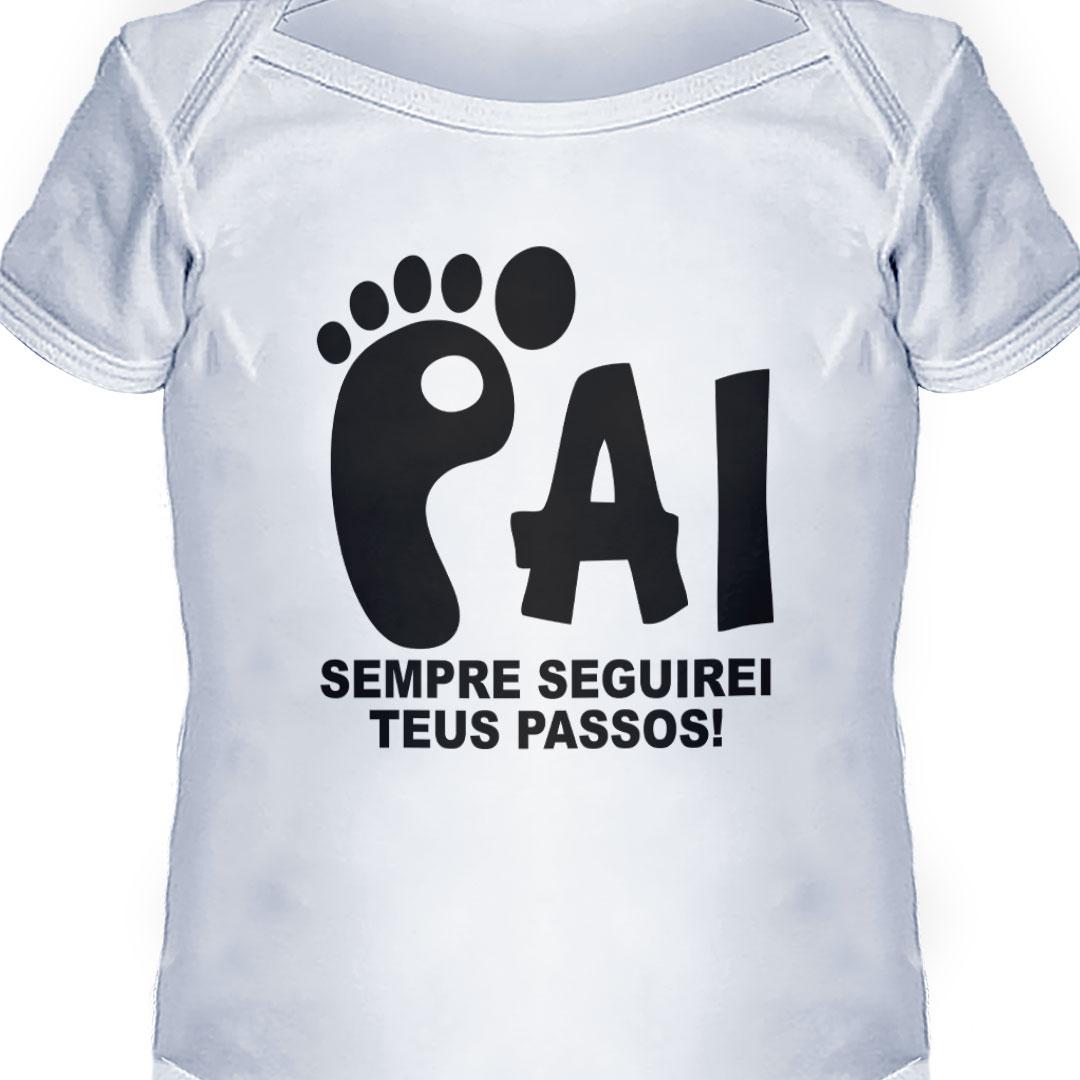 Body Infantil - Pai, Seguirei Teus Passos