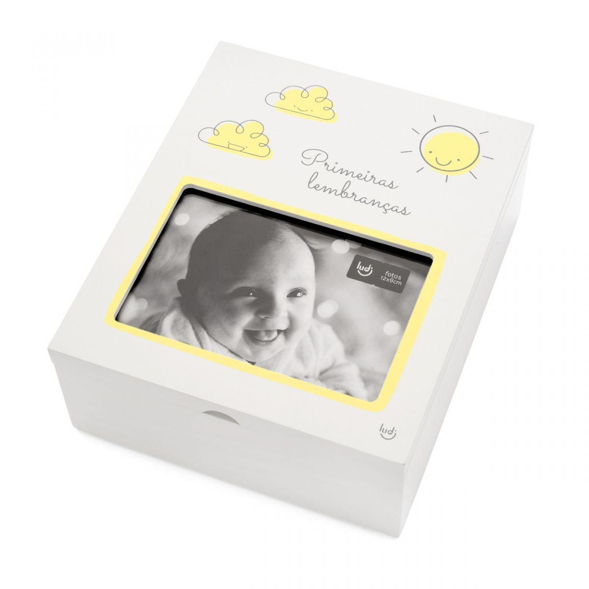 Caixa Porta Lembranças com Foto Bebê