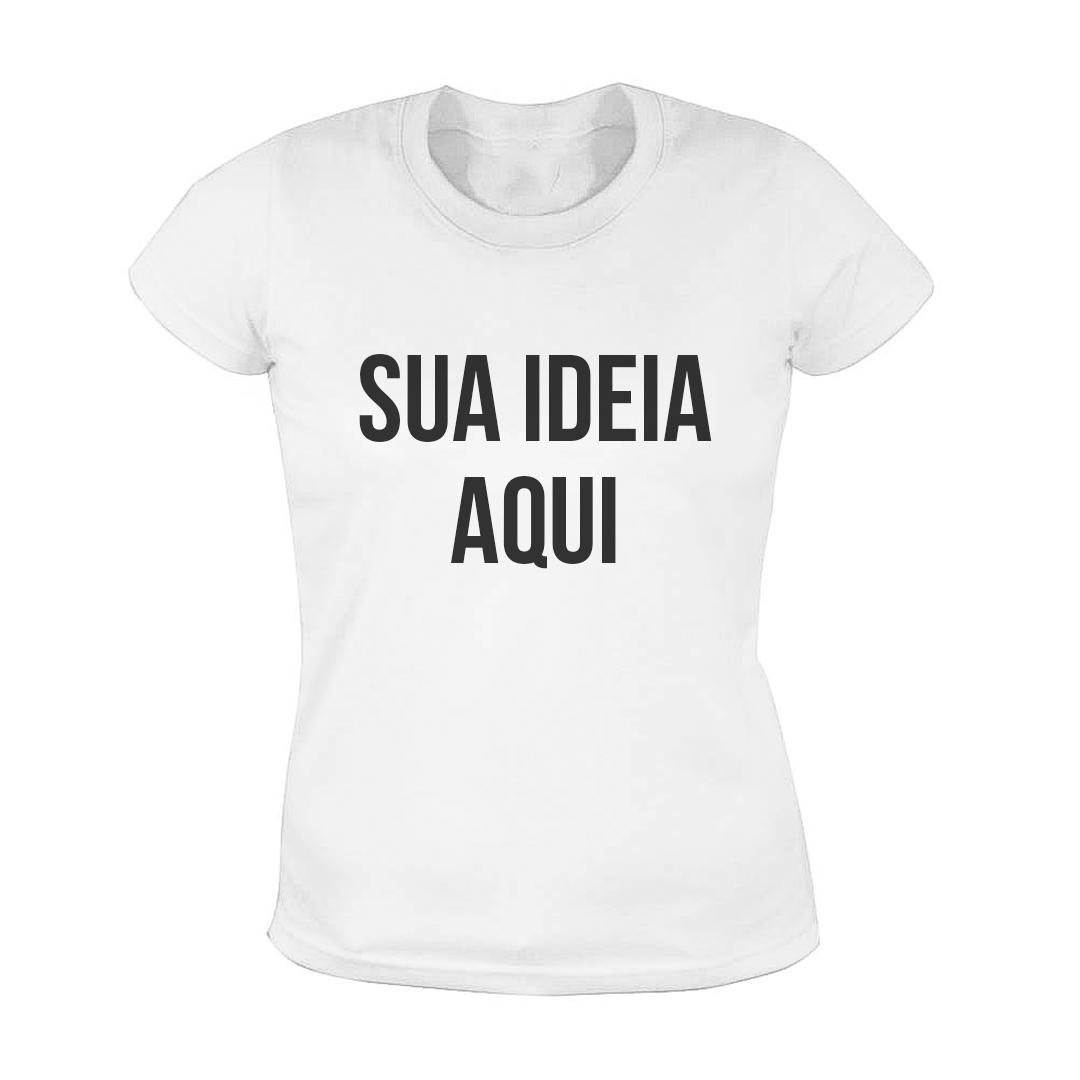 Camisa Baby Look Personalizada - Branca