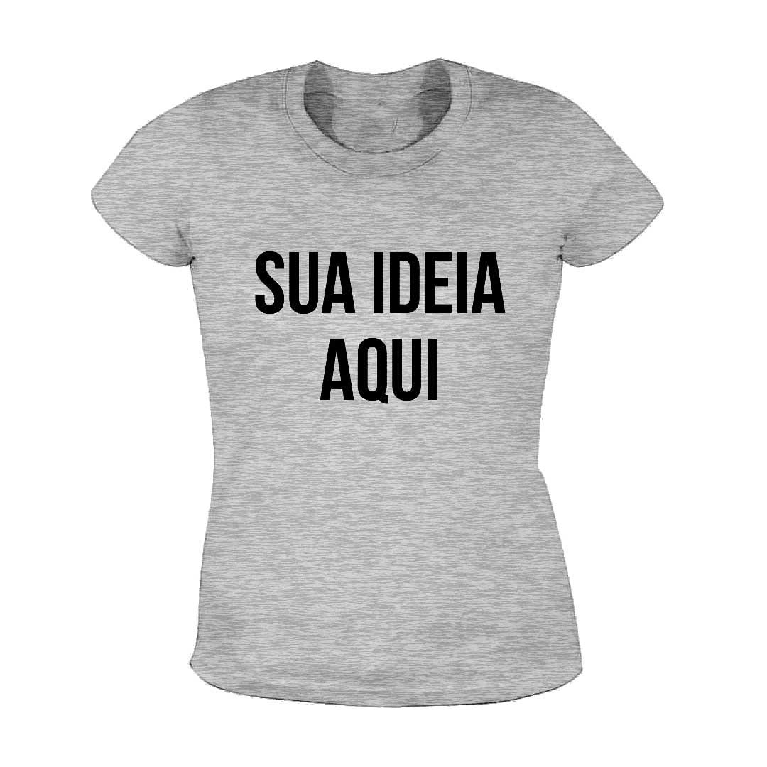 Camisa Baby Look Personalizada - Cinza