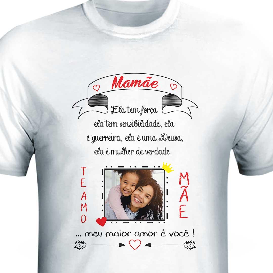 Camisa com Foto - Mãe, Te Amo