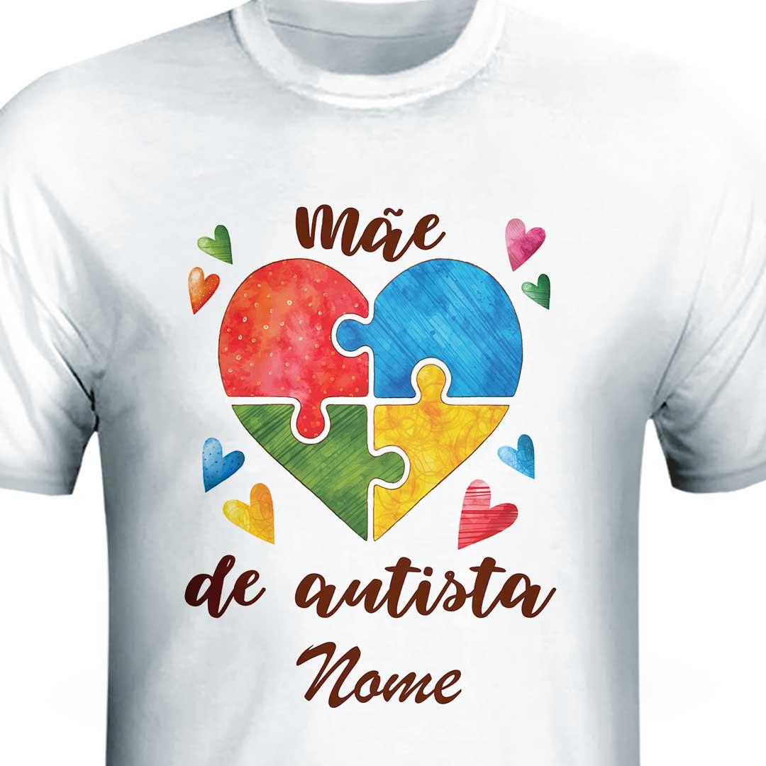 Camisa com Nome - Mãe de Autismo