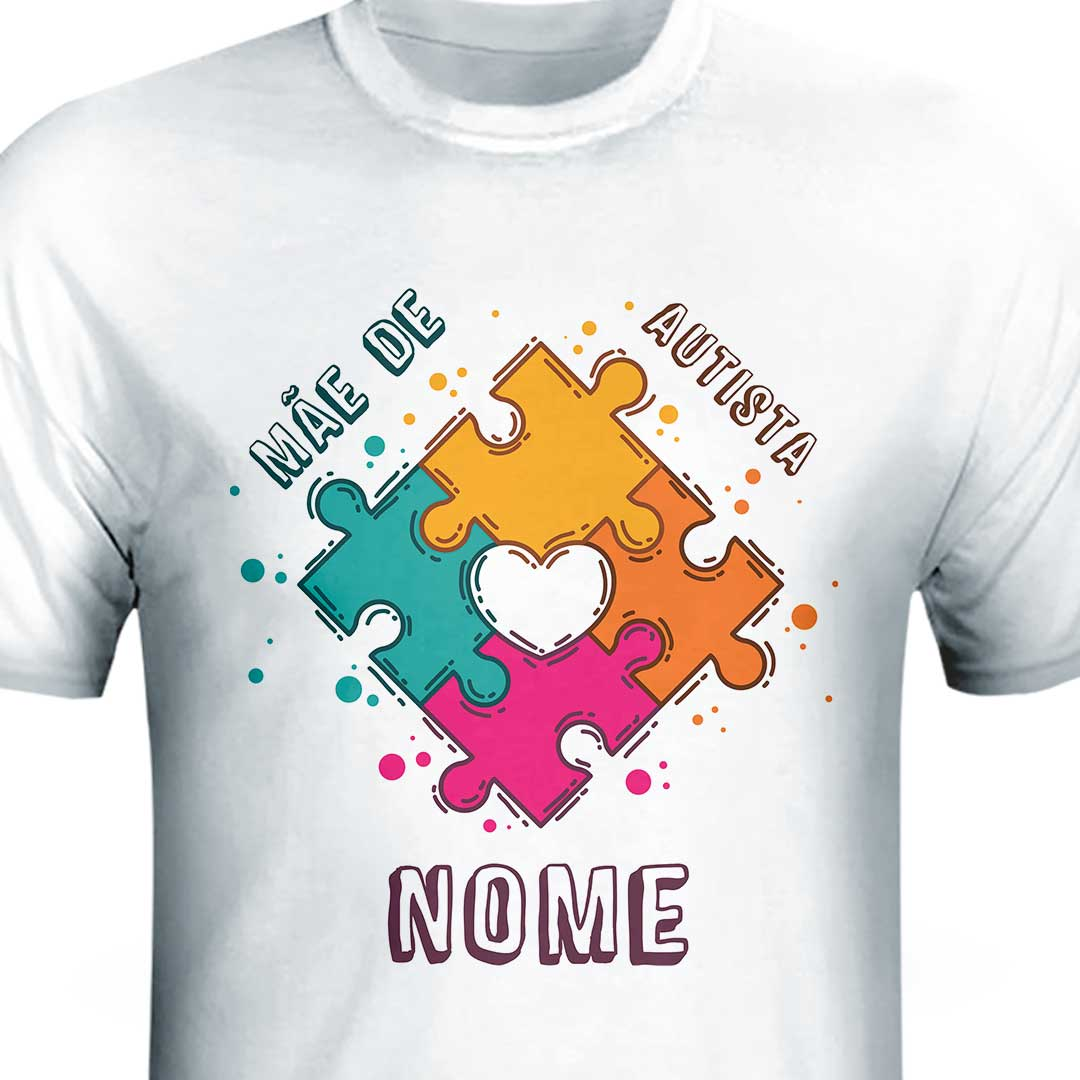 Camisa com Nome - Mãe de Autismo II