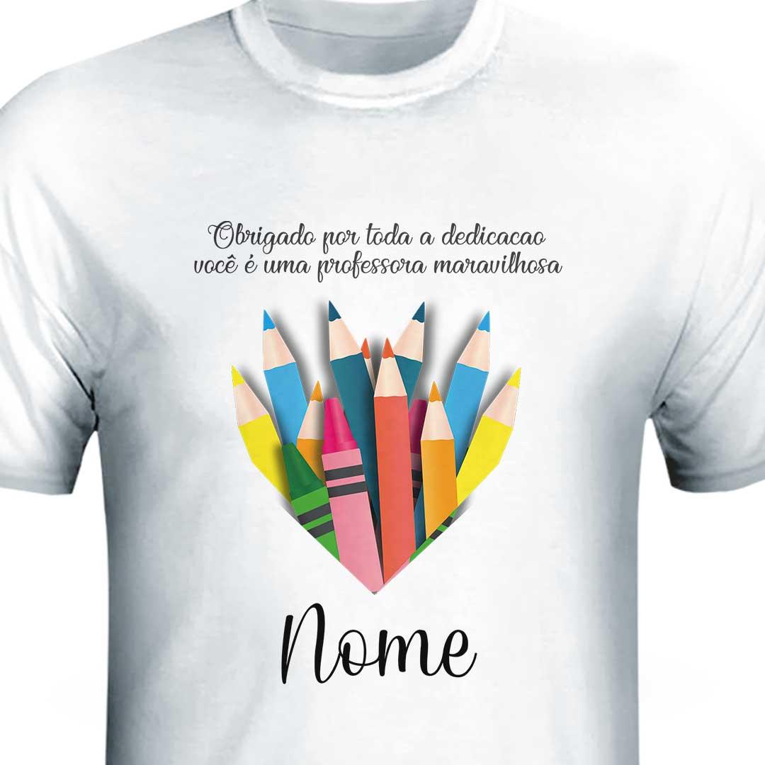 Camisa com Nome - Professor(a) Maravilhoso(a)