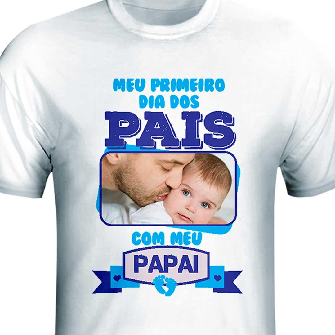 Camisa - Dia dos Pais com Meu Papai Azul