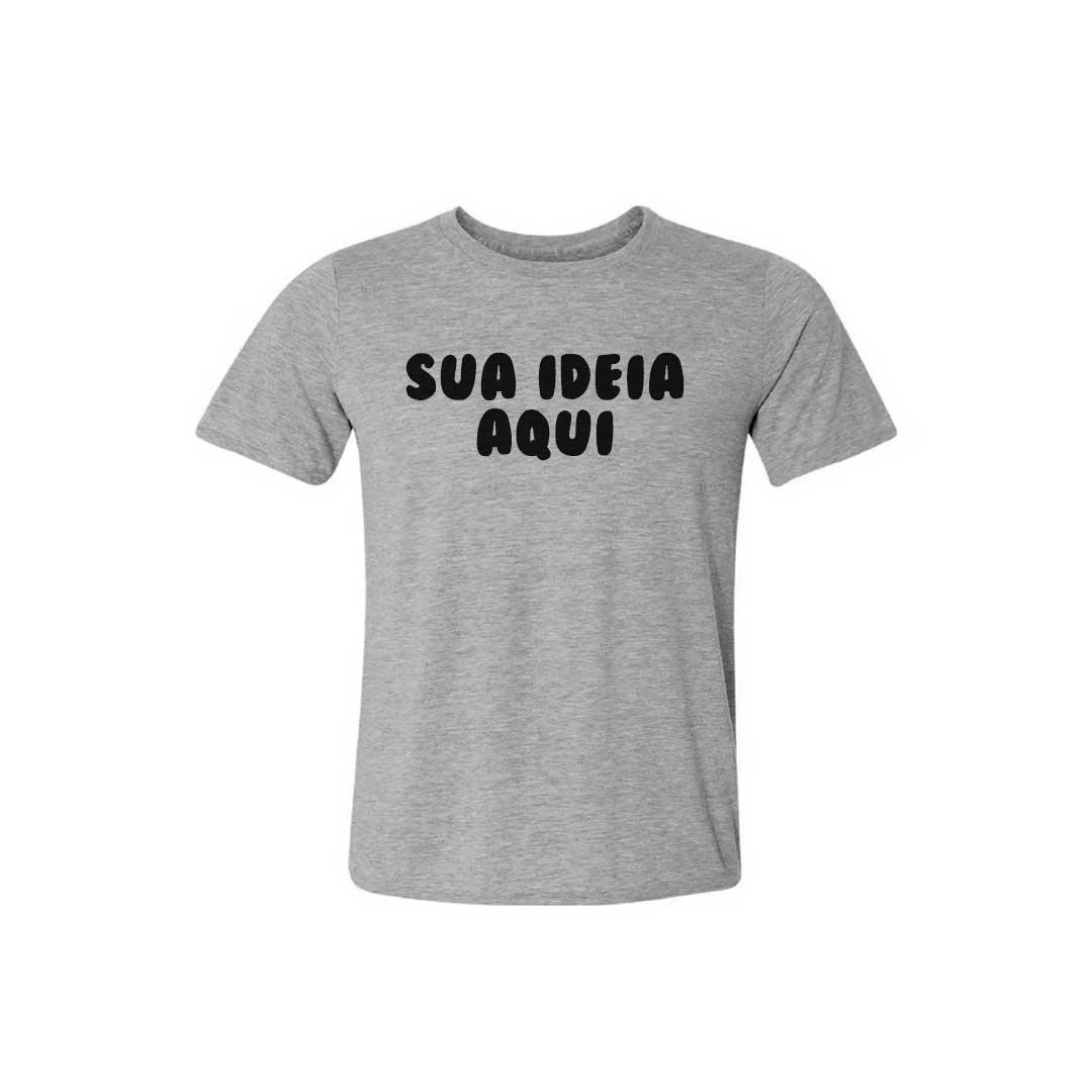 Camisa Infantil Personalizada - Cinza