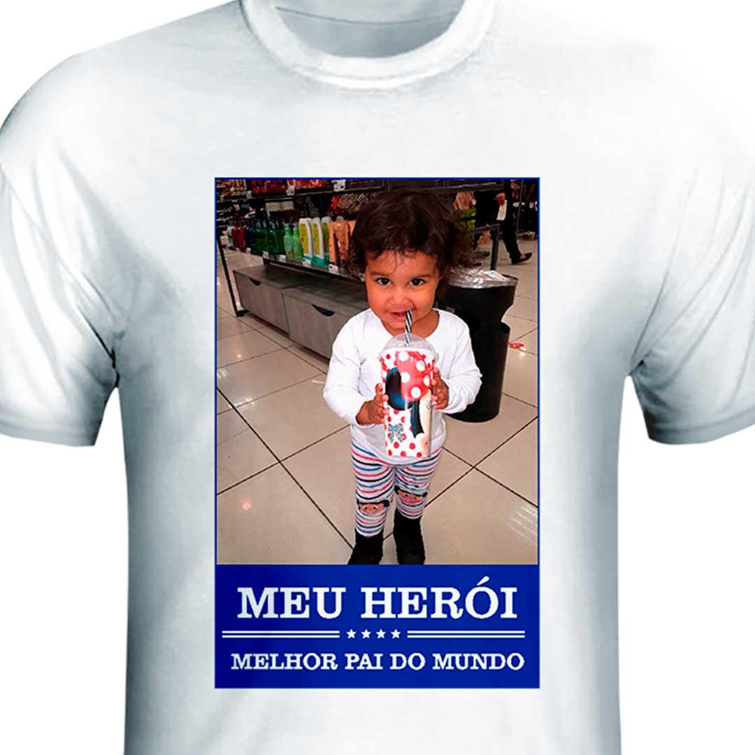 Camisa - Meu Herói, Melhor Pai do Mundo