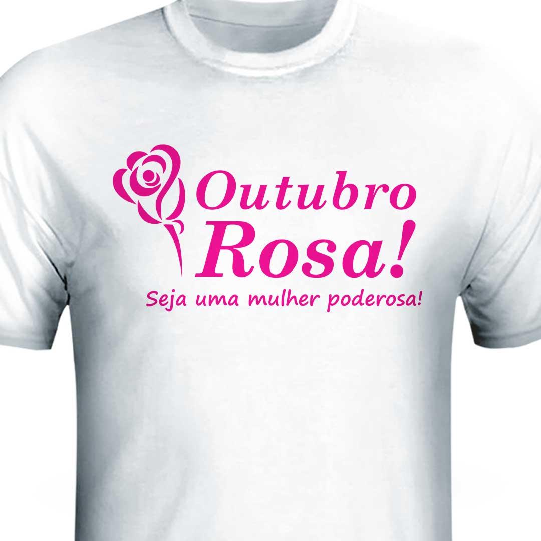 Camisa - Outubro Rosa Seja Forte