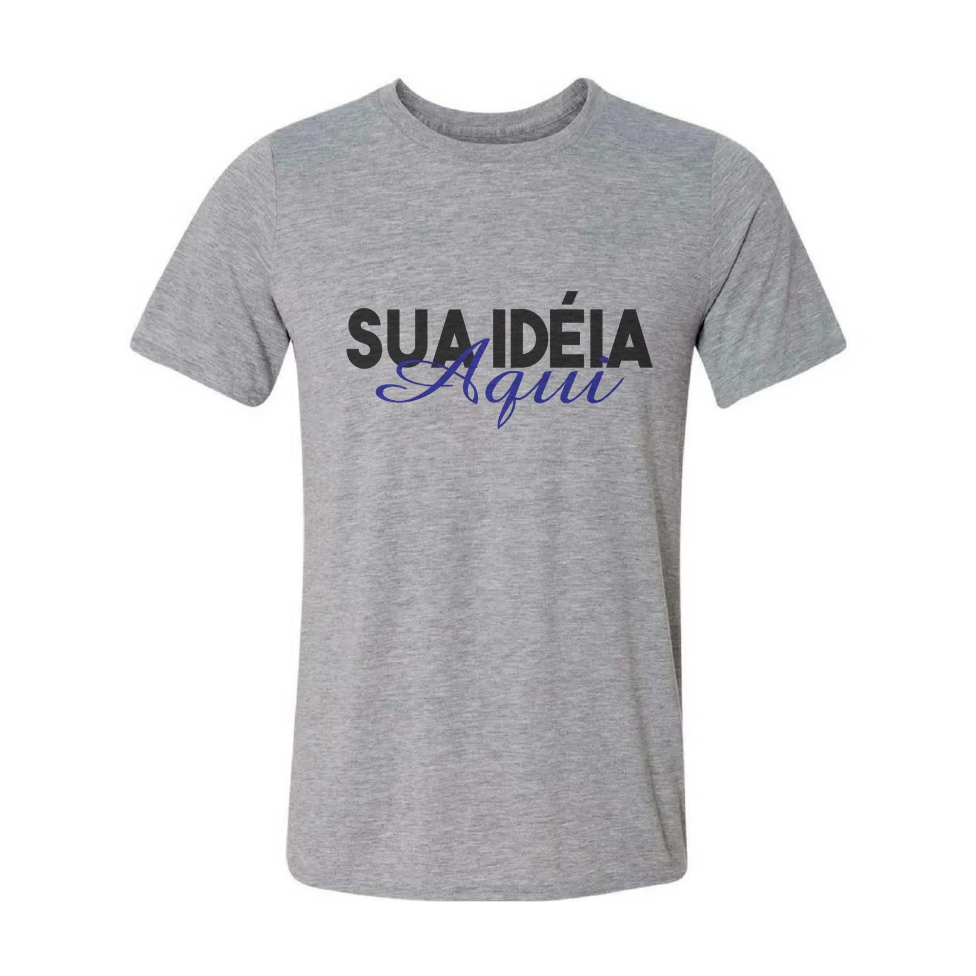 Camisa Personalizada - Cinza