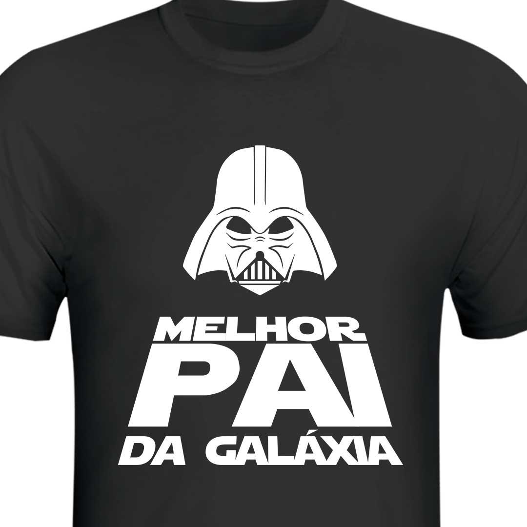 Camisa Preta - Melhor Pai da Galáxia