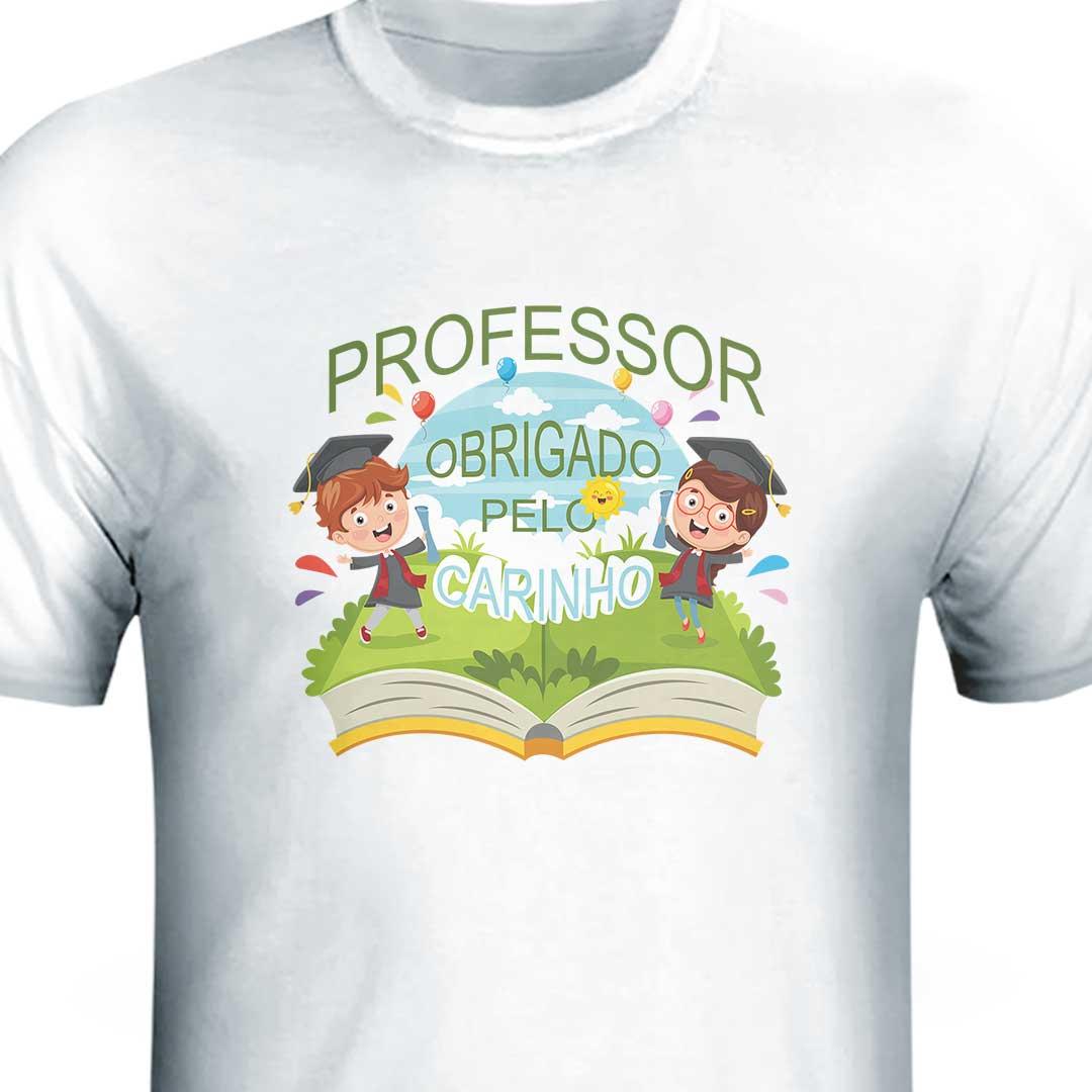 Camisa - Professor, Obrigado pelo Carinho
