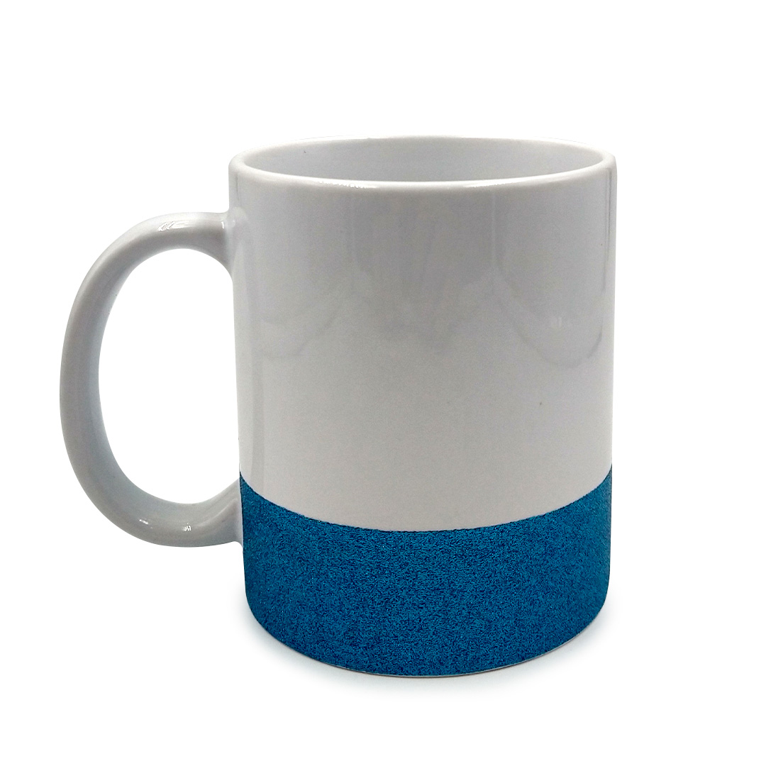 Caneca - Base de Glitter Azul Personalizada
