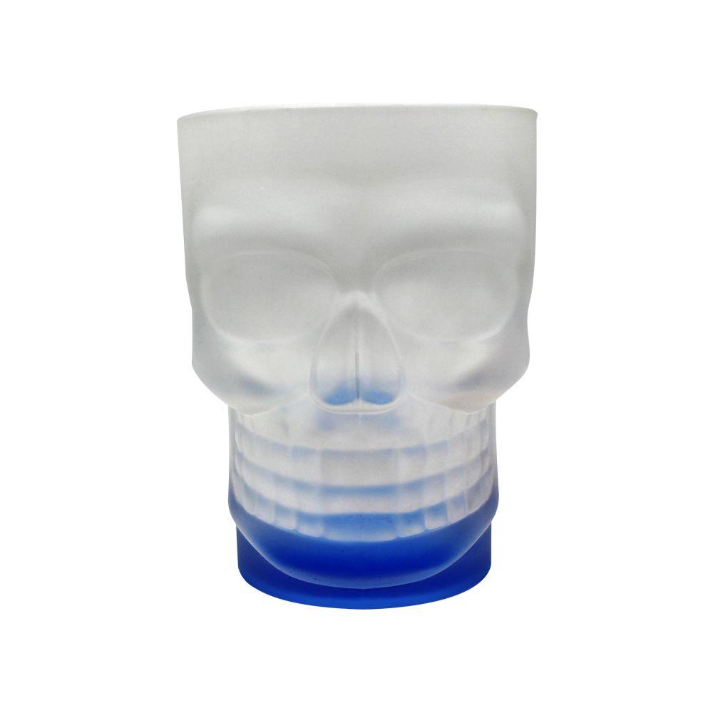 Caneca Caveira Skull Mug com Base Azul