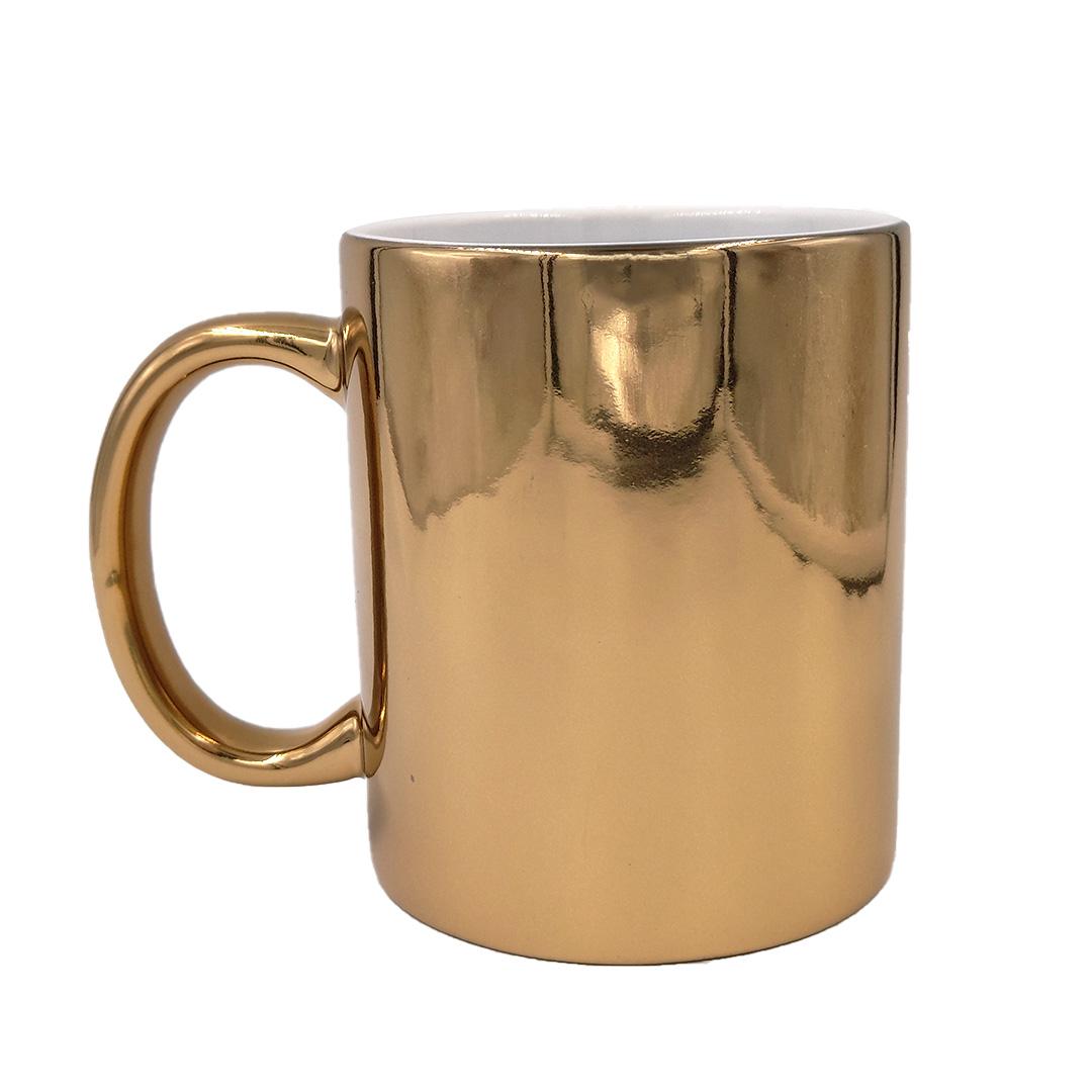 Caneca - Cromada Dourada Personalizada