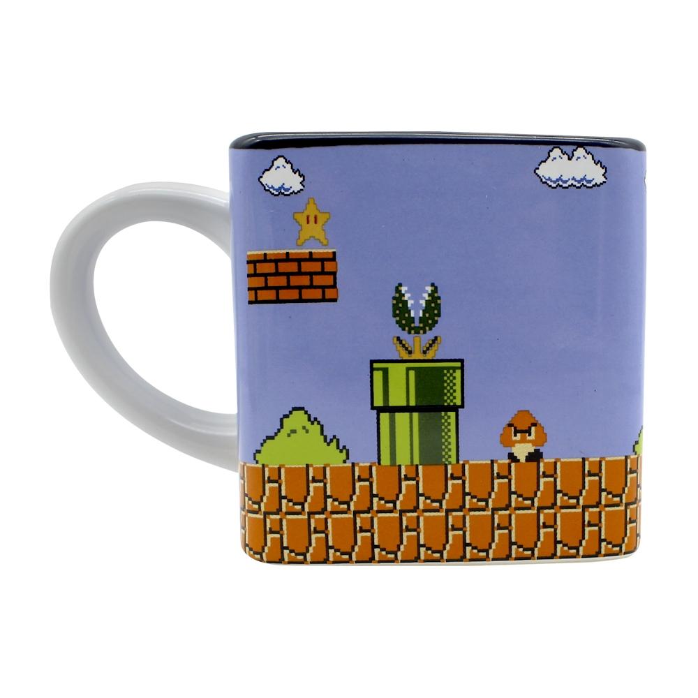 Caneca Cubo - Super Mario Fases Pixels
