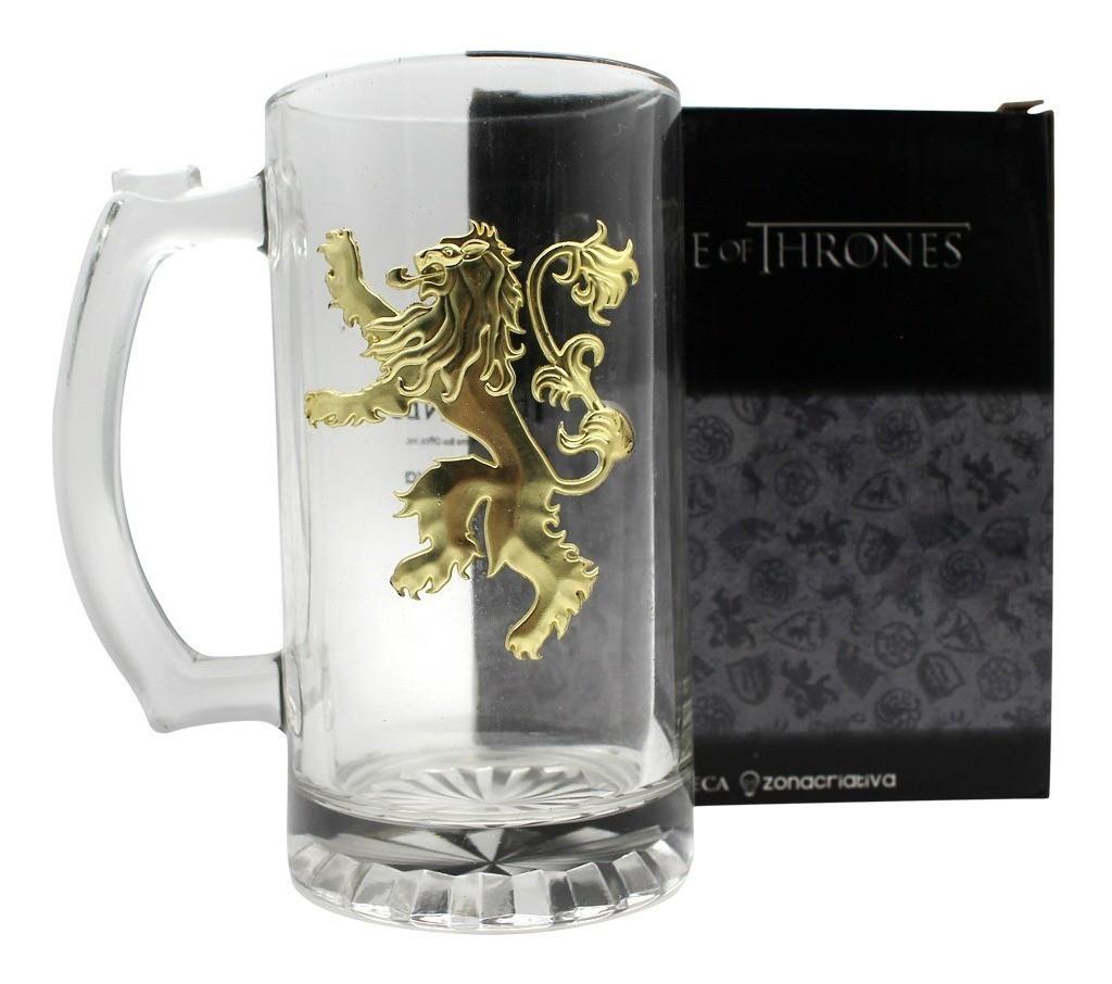 Caneca Game Of Thrones Brasão de Metal dos Lannister