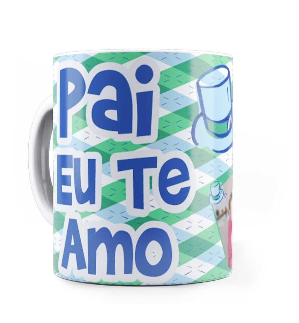 Caneca Personalizada com Foto Pai Eu Te Amo