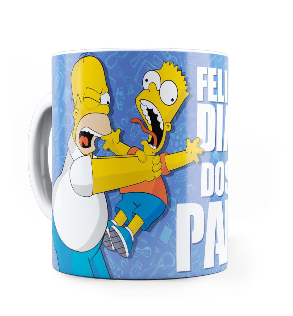Caneca Personalizada Feliz Dia dos Pais Simpsons