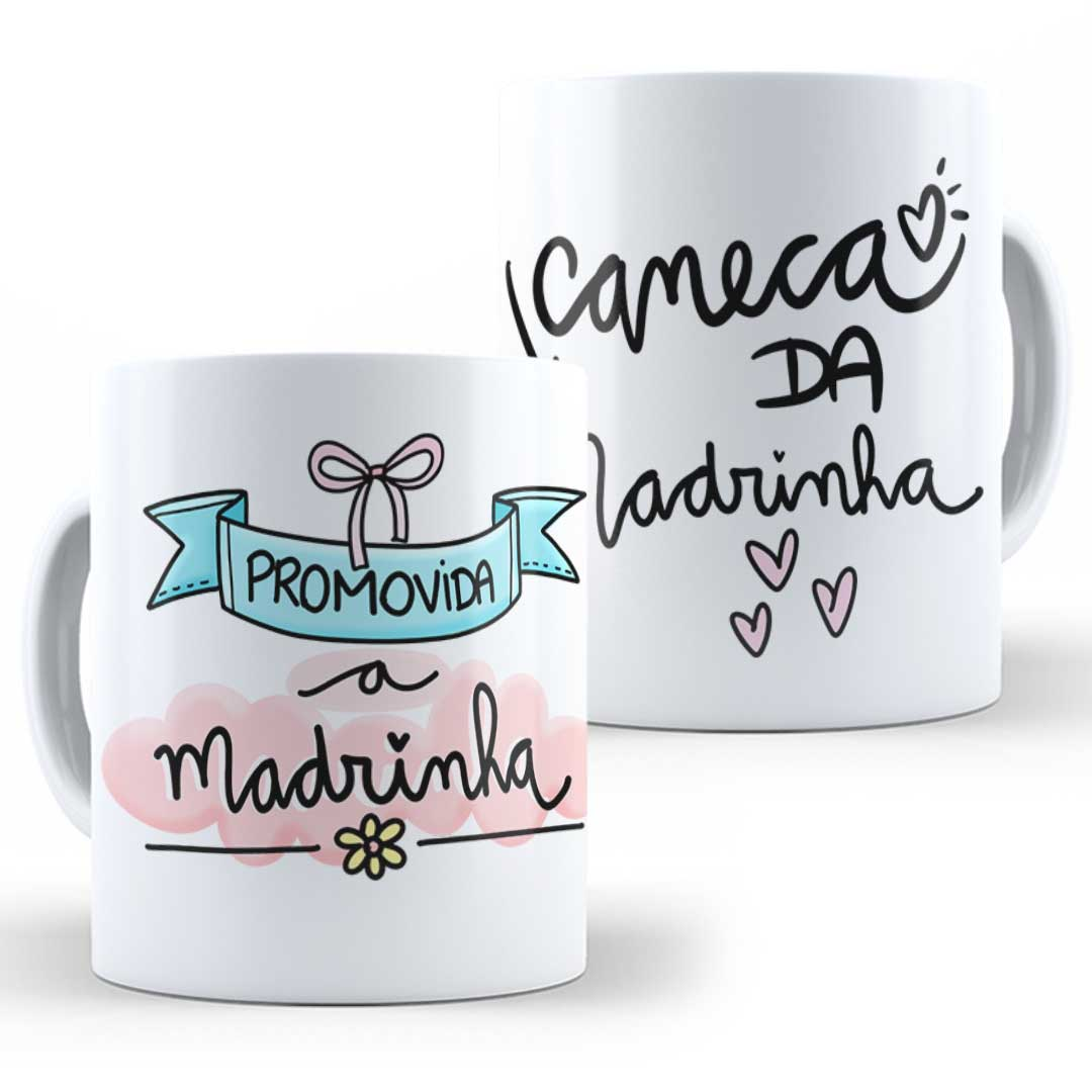 Caneca Porcelana - Caneca da Madrinha