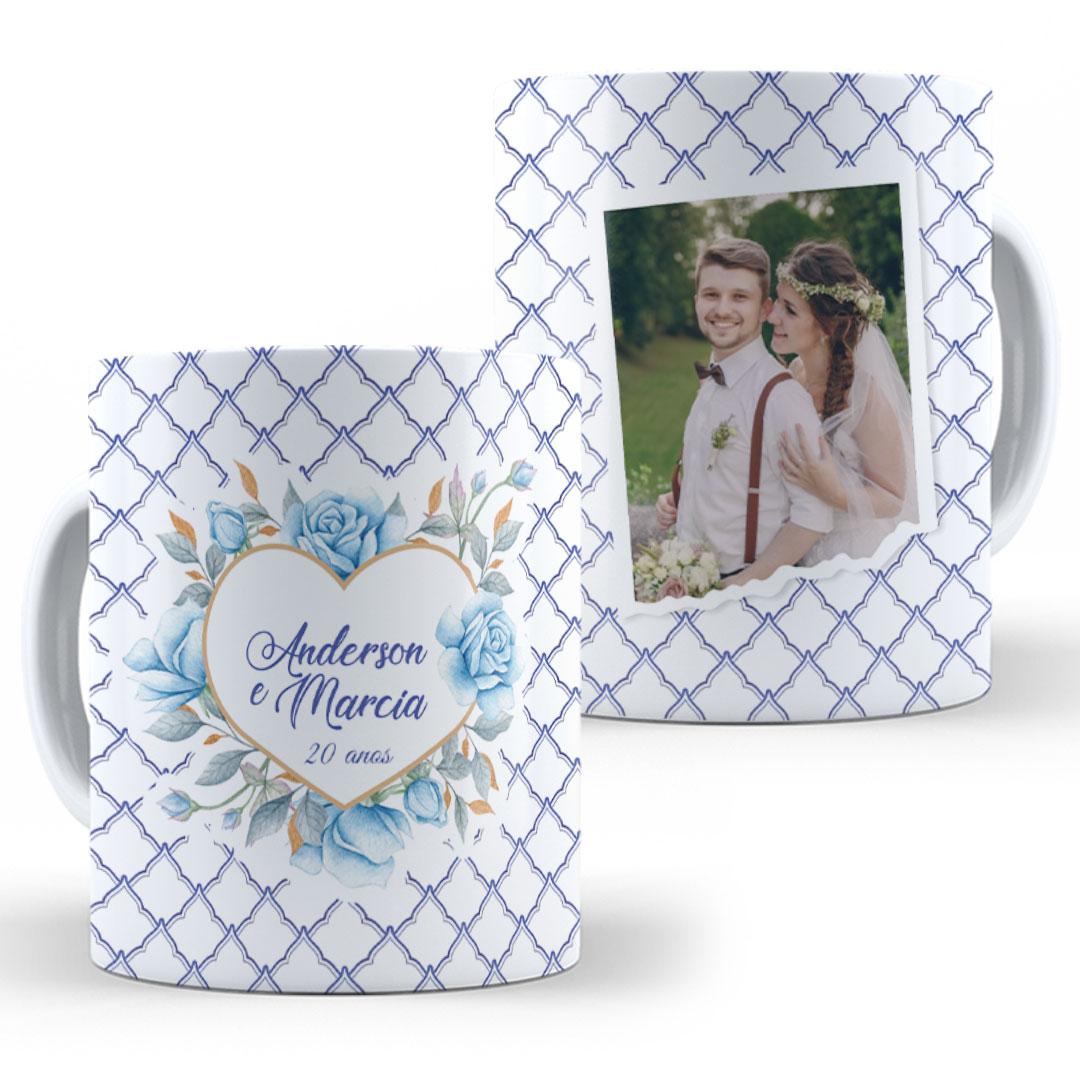Caneca Porcelana com Foto - Bodas de Porcelana
