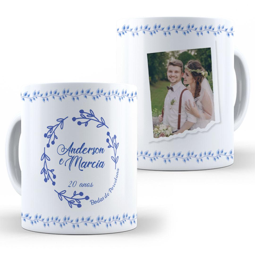 Caneca Porcelana com Foto - Bodas de Porcelana II