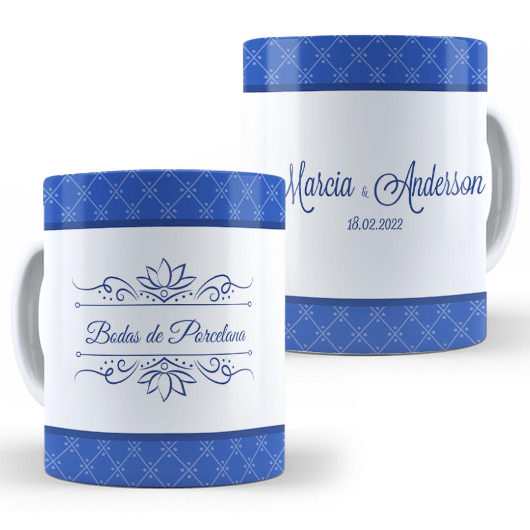Caneca Porcelana com Nome - Bodas de Porcelana III