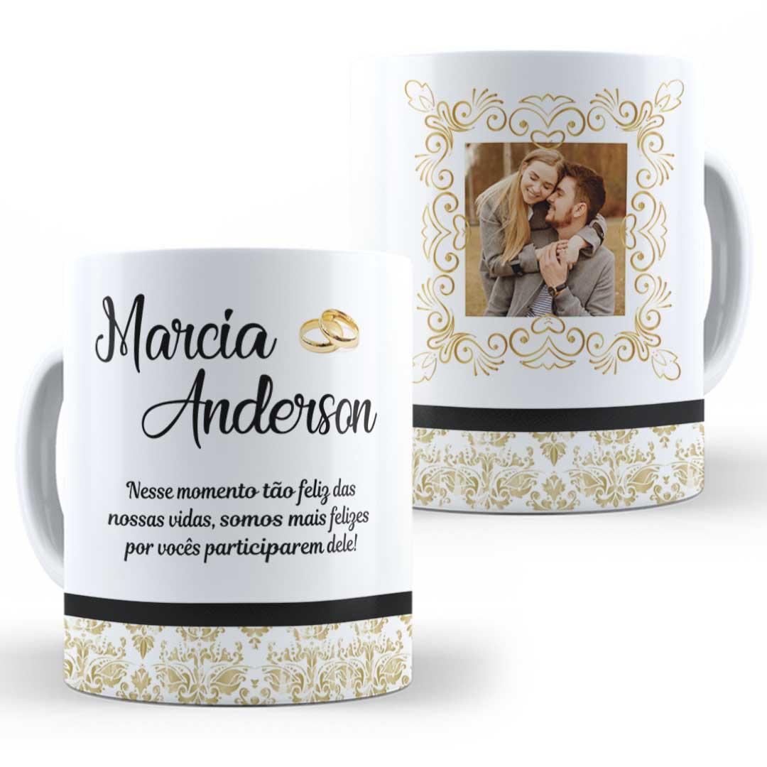 Caneca Porcelana com Foto - Casamento I