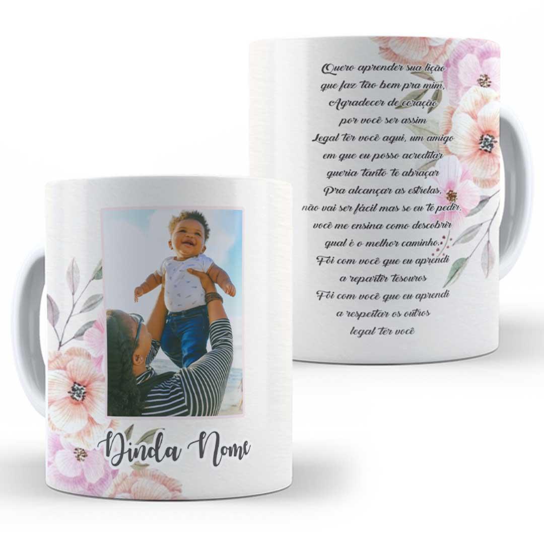 Caneca Porcelana com Foto - Dinda, Quer Aprender sua Lição!
