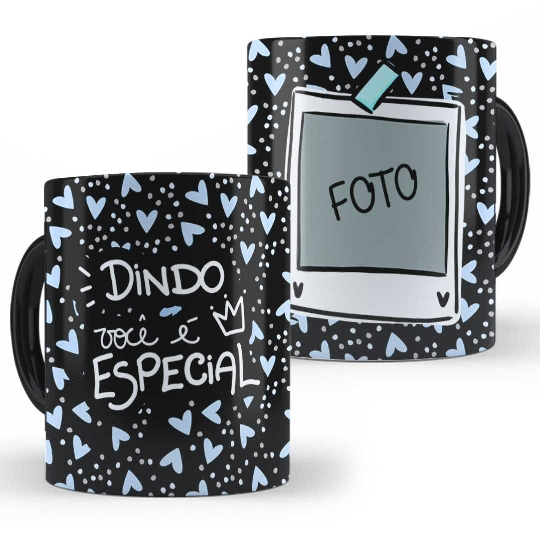 Caneca Porcelana com Foto - Dindo(a) Especial