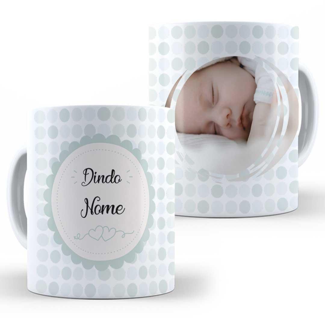 Caneca Porcelana com Foto - Dindo da(o)... III