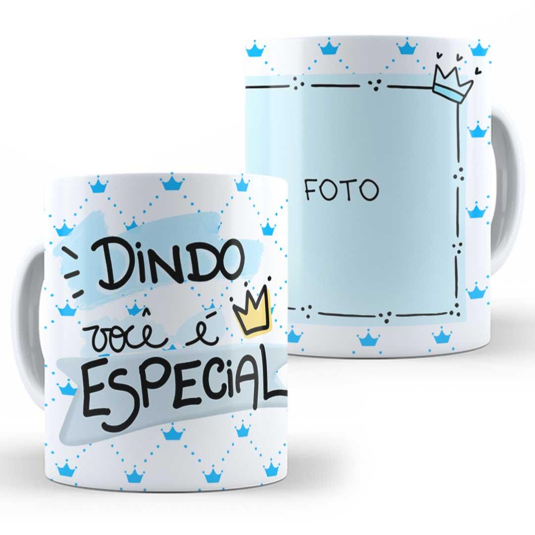 Caneca Porcelana com Foto - Dindo Especial